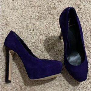 Worn once! Purple suede -bought @Saks Fifth Avenue